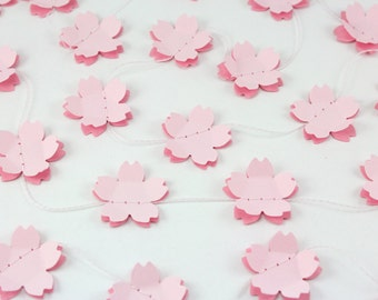 Double Cherry Blossom Paper Garland - Weddings, birthdays, baby showers