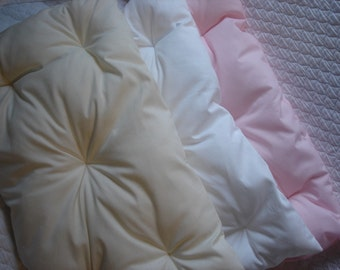Mattress ONLY Bedding for American Girl Doll Beds Your color choice Pink White or Natural Cotton