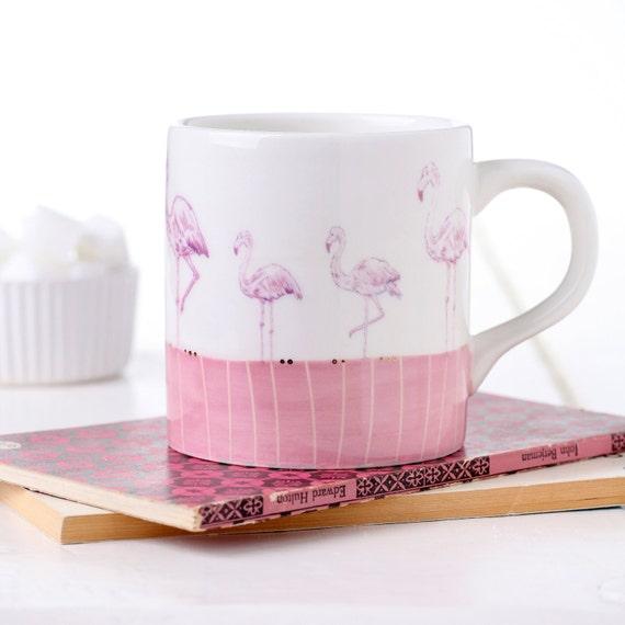 items similar to flamingo mug on etsy. Black Bedroom Furniture Sets. Home Design Ideas