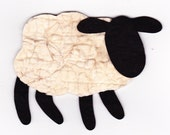 Small Tea-Dyed Wool RagSpun Sheep...a new item for crafters, quilters, or sewers with endless possiblities...