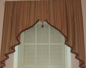 Modern Pleated Valance With A Moroccan Flair MADE TO ORDER