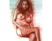 Original Painting - Nude Pastel Figure One of a Kind 40x28