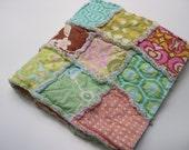 THE DELILAH - Rag quilt patchwork Amy Butler blanket