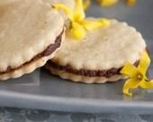 Chocolate Ganache Filled Vanilla Bean Sandwich Cookies - 1 dozen