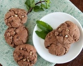 Chocolate Mint Fudge Drop Cookies - 2 dozen