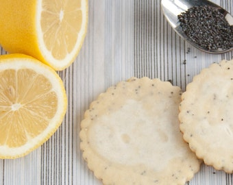 Lemon Poppyseed Cookies - 2 dozen fresh baked cookies