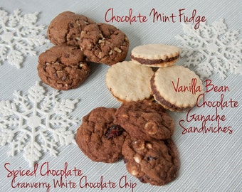 Christmas Cookie Sampler Box No. 4 - 2 1/2 dozen fresh baked homemade cookies