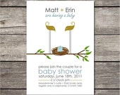 PRINTABLE simple baby shower invitation
