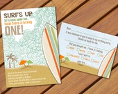 PRINTABLE Surf themed birthday party pack