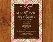 PRINTABLE Plaid baby shower invitation