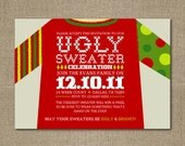 PRINTABLE Personalized Christmas Party Invitation