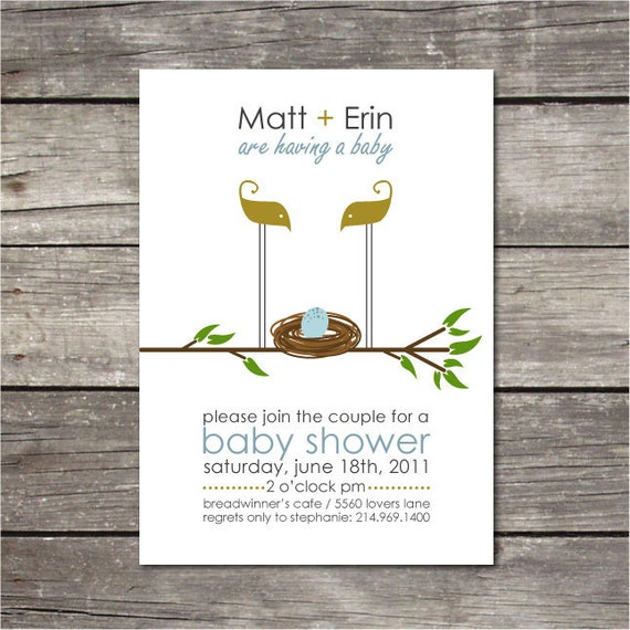 items similar to printable simple baby shower invitation on etsy