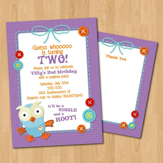 PRINTABLE Giggle & Hoot PARTY PACK - invitations, thank you, favor tags, cupcake toppers and wrappers, garland