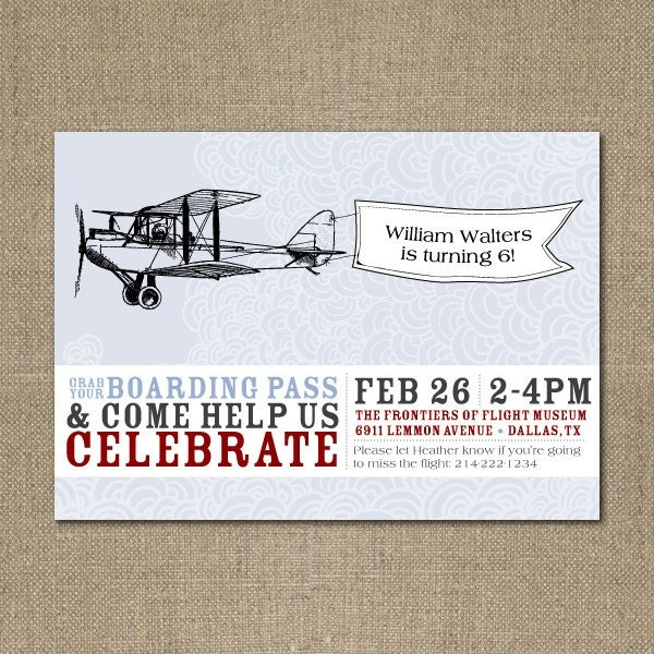 Vintage Airplane Party Printables Airplane Birthday Airplane: PRINTABLE Vintage Airplane Birthday Party Or Baby Shower