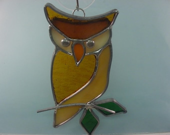Owl - Leaded Stained Glass