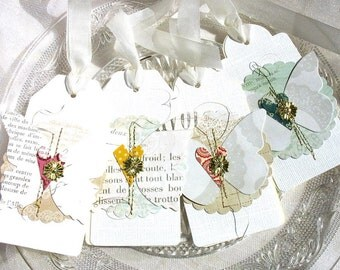 Elegant Luxe Butterfly Gift Tags No. 2-white-cream-bridesmaid gift tags-spring faire-garden party-gold-nature