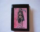 La Muerte Loteria Decorated Mini Leather Wallet - Death - MW110