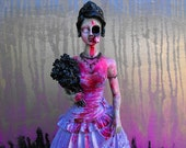 Zombie Girl Day of the Dead Inspired Statue