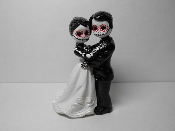 day of the dead wedding cake topper bride and groom items similar to day of the dead wedding cake topper on etsy 13361