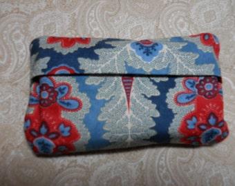 Orange and Blue Purse Tissue Cover