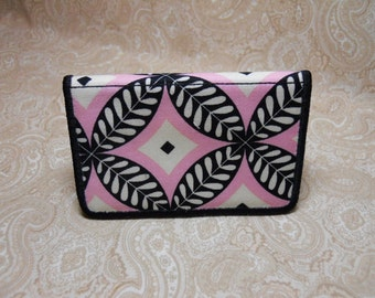 Modern Pink and Black Business Card Case