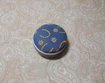 Blue Horseshoe Daisy Tooth Fairy Box / Trinket Box
