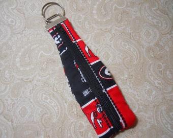 Georgia Zippered Key Fob