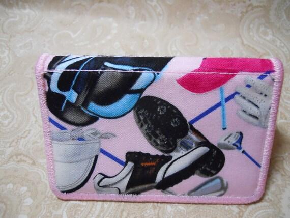 Ladies Pink Golf Business Card Case