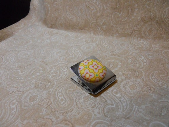 Star light, Star Bright Magnetic Covered Button Clip