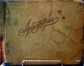 Vintage School Autograph Album - 1939 - Charming - Original Written Inscriptions - Strawberry Plains, Tenn