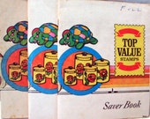 Top Value Stamp Saver Books - Full of Yellow Stamps - Three (3) Vintage Books