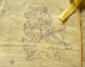 INFANT FLANNEL WRAPPER- Vintage with Cat and the Fiddle Designs - Soft and oh so Precious