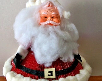 Vintage Hand Crafted Santa Claus -1960 - 1970's Christmas Art /Decor Project