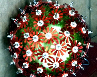 Mid Century Christmas/Holiday Ornament w/Spikes - 1970s Hand Crafted - Unusual -  Funky and Fun