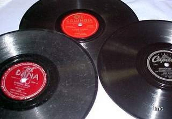 LOT OF (3) VINTAGE 78 RPM RECORDS