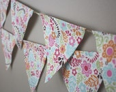 Sweet Floral Pennant Banner Bunting