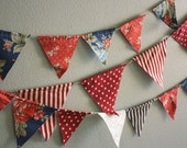 Fourth of July Pennant Banner Bunting