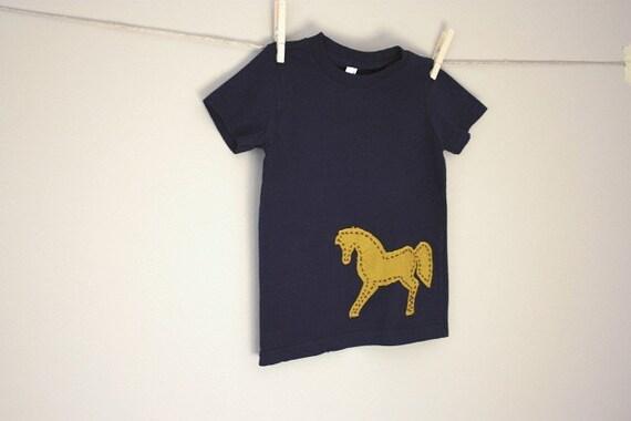 Ensign Horse, Handstitched Applique