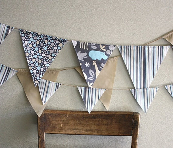 ON SALE Striped Pennant Banner/Bunting