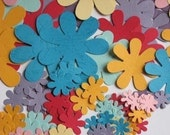 100 Paper Flowers - 4 different sizes and 8 colors for scrapbooking and cardmaking - set 3