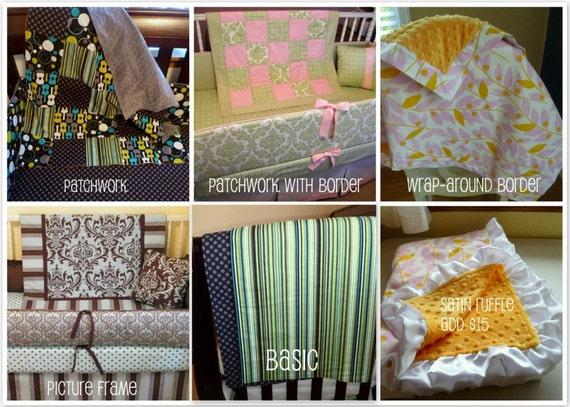 Custom Minky Baby Blanket - Your choice of fabrics