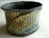 Dragonskin Textured Raku Pot