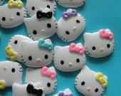 4 PC  Hello Kitty Flatback Cabochons Lot