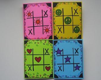 4 handmade blank cards
