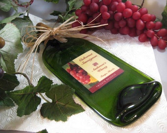 Wine Bottle Cheese Board - Personalized with your name