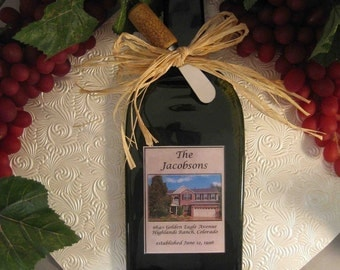 Personalized Home Wine Bottle Cheese Board