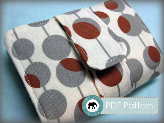 Lila Wallet Clutch PDF Sewing Pattern (Email Delivery)