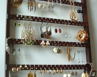 wooden jewelry rack wall mount