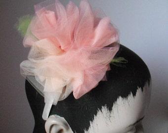 Apricot Tulle Roses Headband