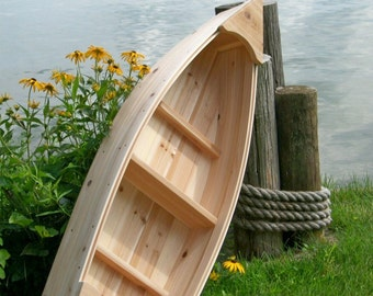 4 foot Nautical unfinished wooden canoe landscape all cedar boat garden box planter lawn or yard ornament decoration or wedding raw bar